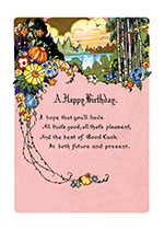 Floral Landscape (Birthday Greeting Cards)
