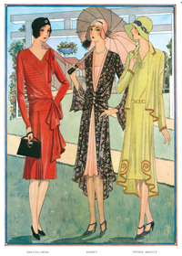 French Jazz Age Dresses (1920s Fashion Fashion Greeting Cards)