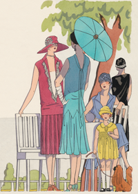 Fashionable Ladies and Girls of the 1920s (1920s Fashion Fashion Art Prints)