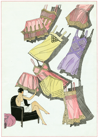 Lingerie of 1926 (Jazz Age Fashion Greeting Cards)