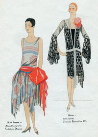 Two Dresses for Flappers (Jazz Age Fashion Greeting Cards)