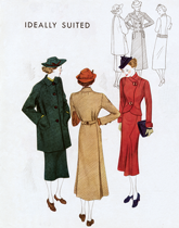 Forties Outerwear (1940s Fashion Fashion Greeting Cards)