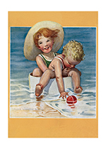 Swimming with Little Brother (Jessie Willcox Smith Greeting Cards)