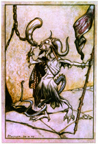 Demon Trumpeter (Fantasy and Legend Greeting Cards)
