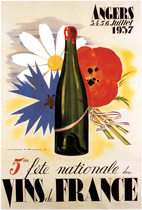 Fete des Vins de France (Wine and Spirits Art Prints)