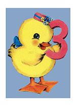 Duckling Third Birthday (Birthday Greeting Cards)