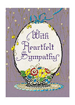 With Heartfelt Sympathy (Sympathy Greeting Cards)