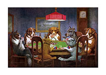 Dogs Playing Poker (Delightful Dogs Animals Art Prints)