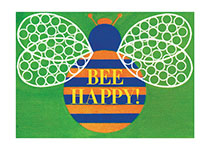 Bee Happy (Birthday Greeting Cards)