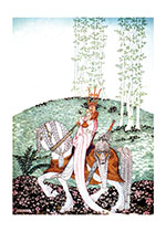 A Prince and Princess on a Glorious Horse (Fantasy and Legend Art Prints)