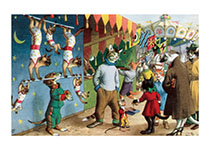 Cats at the Carnival (Captivating Cats Animals Art Prints)