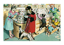 Card Buying in Chaos (Captivating Cats Animals Art Prints)
