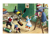 House Cleaningor Not (Captivating Cats Animals Art Prints)