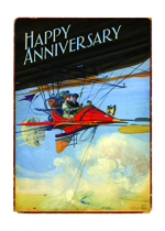 A Flying Couple (Anniversary Greeting Cards)