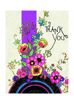 Art Deco Thank You (Thank You Greeting Cards)