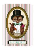 Elegant Owl (Birthday Greeting Cards)