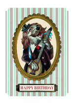 Musical Dog (Birthday Greeting Cards)