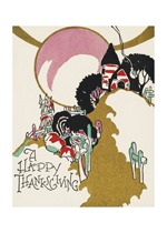 Deco Thanksgiving Greeting (Thanksgiving Greeting Cards)
