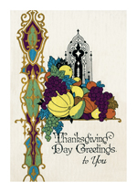 Deco Thanksgiving Vegetables (Thanksgiving Greeting Cards)