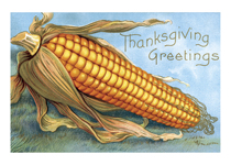 Giant Corn Thanksgiving Greeting (Thanksgiving Greeting Cards)
