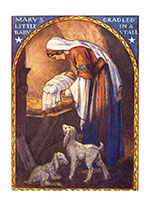 Mary Laying Jesus in the Manger (Many More Christmas Greeting Cards)