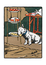 Gyp Helps Himself to a Tea Time Treat (Cecil Aldin Dog Fun Animals Greeting Cards)