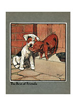 The Best of Friends (Cecil Aldin Dog Fun Animals Greeting Cards)
