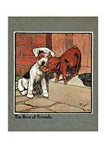 The Best of Friends (Cecil Aldin Dog Fun Animals Art Prints)