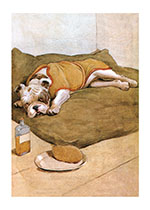 Good Care for an Ailing Friend (Cecil Aldin Dog Fun Animals Art Prints)