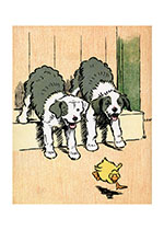 Duck Chasing is Fun! (Cecil Aldin Dog Fun Animals Greeting Cards)