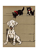 A Surprise for the Puppy! (Cecil Aldin Dog Fun Animals Art Prints)
