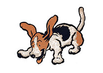 Happy Leaping Beagle (Cecil Aldin Dog Fun Animals Art Prints)