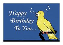 Singing Bird (Birthday Greeting Cards)