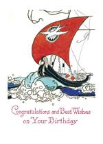 Sailing Ship (Birthday Greeting Cards)