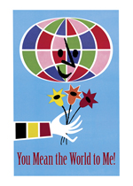 You Mean The World To Me (Friendship Greeting Cards)