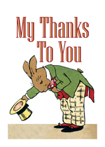 My Thanks To You - Bowing Bunny (Thank You Greeting Cards)