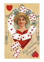 Queen of Hearts (Victorian Valentine's Day Greeting Cards)