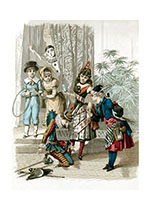 French Children's Pantomime (Celebration Greeting Cards)
