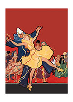Costumed Dancers of the Thirties (Celebration Art Prints)