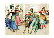 Turn of the Century German Costumes (Celebration Greeting Cards)