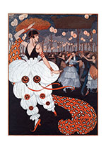 Bismarck Garden - Pierette at the Masquerade Ball (Celebration Greeting Cards)