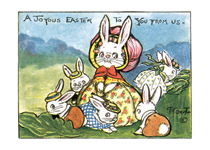 Mother Rabbit with Little Rabbits (Easter Greeting Cards)