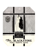 The Blackstone Hotel Luggage Label (Americana Travel Art Prints)