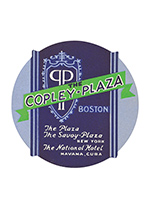 The Copley Plaza Luggage Label (Americana Travel Art Prints)