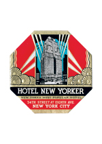 Hotel New Yorker Luggage Label (Americana Travel Art Prints)