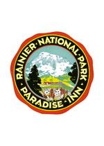 Paradise Inn Rainier Luggage Label (Americana Travel Greeting Cards)