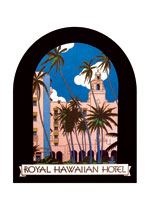 Royal Hawaiian Hotel Luggage Label (Americana Travel Greeting Cards)