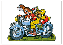 Biker Bunny Easter (Easter Greeting Cards)
