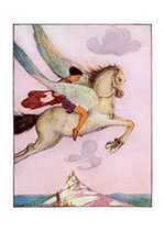 Fly! Flying Horse (Encouragement Art Prints)