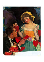 A Valentine from Her Love (Magazine Art Valentine's Day Greeting Cards)